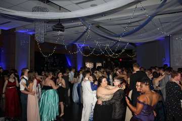 High school prom dance floor